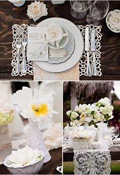 Rustic vintage table setting