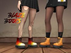 Blaze Boots | Trillyke on Patreon Maxis, Sims 4 Cc Shoes, Metallic Pleated Skirt, Sims 4 Characters, Sims 4 Mm Cc, Color Tag, Sims 4 Cas, Sims 4 Cc Finds, Sims 4 Clothing