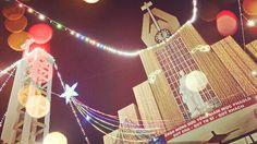 Christmas neon light, church.   Nhà thờ Tân Phú tại Thành phố Hồ Chí Minh, Thành phố Hồ Chí Minh