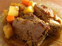 Crockpot Pot Roast - I also added celery, fresh rosemary, thyme and dry onion soup mix.