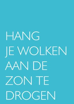 Hang je wolken te drogen! - Coachingskaarten - Kaartje2go