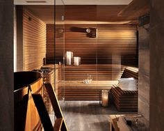 47 Coolest Home Sauna Design Ideas - The land is going to have lots of buildings once complete. All uses of garden rooms will boost the home and can increase the worth of the house. In truth, it is no longer crucial to have a big spac… - Home Spa Room, Spa Rooms, Sauna Steam Room, Sauna Room, Chalet Design, House Design, Modern Saunas, Building A Sauna, Indoor Sauna