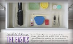 Essential Oil Storage: The Basics Young Living Essential Oils Young Living Oils, Young Living Essential Oils, Young Living Business, Citrus Essential Oil, Essential Oil Storage, Yl Oils, Linen Spray, Natural Cleaning Products, Perfume Oils