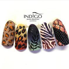 18 Cute Acrylic Nail Designs Boost Your Outstanding Look Cute Acrylic Nail Designs, Diy Nail Designs, Cute Acrylic Nails, Tiger Nails, Cheetah Nails, Gorgeous Nails, Love Nails, Fruit Nail Art, Funky Nail Art