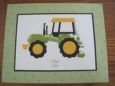 Footprint tractor crafts...so cute!!