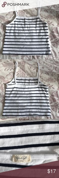Brandy Melville Striped Tank Top Super cute brand new brandy tank has a right fit worn once tags: brandy, urban, pacsun, free people Brandy Melville Tops Tank Tops