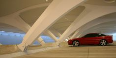 Santiago Calatrava - Parking Level at the Milwaukee Art Museum - Milwaukee Wisconsin -1994-2001