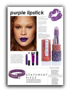 """Purple lipstick"" by jez-alex ❤ liked on Polyvore featuring beauty, Swarovski, Moonchild, Anastasia Beverly Hills and NYX"