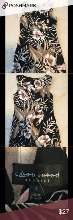 🆕 Connected Floral Dress Brand New! Never Worn! Pretty floral design! Brand is connected apparel. Size 4. Connected Apparel Dresses