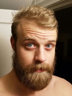 Had to shave it off for work :( RIP in peace beard Hairy Men, Bearded Men, Blonde Guys, Blonde Beards, Beard Boy, Men Beard, Big Blue Eyes, Ginger Men, Awesome Beards