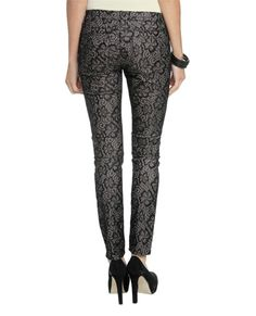 Bonded Lace Skinny Jean from WetSeal.com /// beautiful! Just like the ones Mrs. Hanson has!