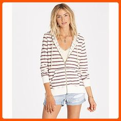 Billabong Women's Setting Sun Stripe Zip up Hoodie, White Cap, S - All about women (*Amazon Partner-Link)