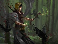Woods Witch by ChrisBjors on deviantART | Create your own roleplaying game books w/ RPG Bard: www.rpgbard.com | Pathfinder PFRPG Dungeons and Dragons ADND DND OGL d20 OSR OSRIC Warhammer 40000 40k Fantasy Roleplay WFRP Star Wars Exalted World of Darkness Dragon Age Iron Kingdoms Fate Core System Savage Worlds Shadowrun Dungeon Crawl Classics DCC Call of Cthulhu CoC Basic Role Playing BRP Traveller Battletech The One Ring TOR