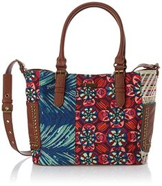 "Desigual Desigual Saintropez Ya Woman Woven Across Body Bag Cross Body Bag, Nantes Green, One Size Shoes"" title="