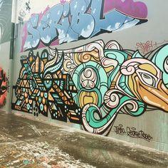 Another scribl from @george_rose  #nofun #graffiti #streetart #urbanart #wallart #muralart #art #graffitilovers #spraypaint #jumbo #sydenham #sydney #georgerose by zeerajan