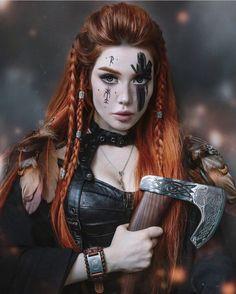 Viking Power, Viking Life, Viking Warrior, Viking Woman, Fantasy Female Warrior, Warrior Girl, Fantasy Girl, Ginger Hair Girl, Ginger Girls