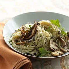 Whole-Wheat Pasta With Mushrooms | MyRecipes.com #myplate #grain #vegetable #Italian