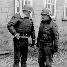 "Bastogne 1944 General George S. Patton & General Anthony ""Nuts"" McAuliffe"