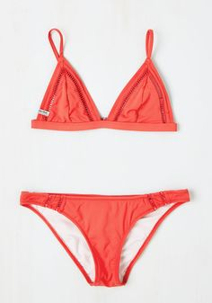 Coral Reef it to Me Swimsuit Bottom. You trust these coral-red bikini bottoms to make a splash - so, naturally, you don them for your snorkeling outing! #red #modcloth