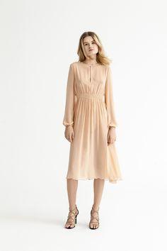 Silk midi dress from Blessus & Michael Hekmat <3 #wedding #dress #weddingguest #midi