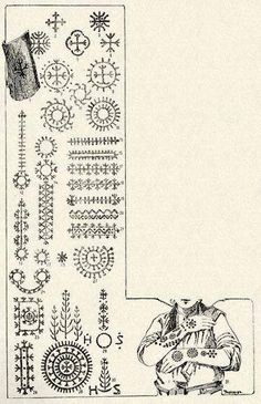 Thousand of years old ornaments - Illyrian/Albanian Tattoo's transmitted generation to generation.
