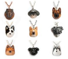 Le Custom Dog Petite Necklace. $50.00, via Etsy. I'd have to get a pom and a border collie! <3