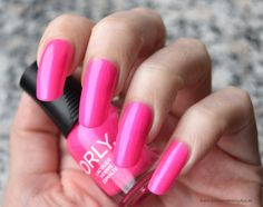 ORLY nail polish - Oh Cabana Boy - pink neon