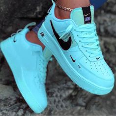 Discovered by Patty. Find images and videos about fashion, nike and sneakers on We Heart It - the app to get lost in what you love. Nike Shoes Blue, Nike Shoes Air Force, Neon Shoes, Nike Air Max, Jordan Shoes Girls, Girls Shoes, Shoes Women, Cute Sneakers, Shoes Sneakers
