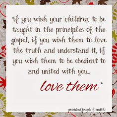 LDS Planners for Moms: Love your children