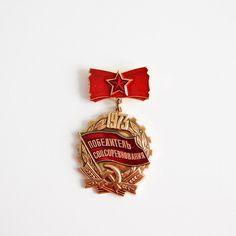 USSR Soviet Union Vintage Badge  1973  Award by isantiik on Etsy, $8.00