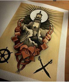 Lighthouse tattoo