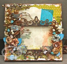 Lindy's Stamp Gang- Altered Canvas by Sharon