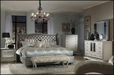 ... Hollywood glam style bedrooms - vintage glam - old style Hollywood