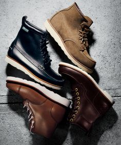 """""""The secret to finding a winter-ready, office-proper boot that doesn't look like you stole it from a longshoreman? That flashy white sole""""    Read More http://www.gq.com/style/wear-it-now/201110/best-mens-white-sole-boots#ixzz1mFt0Q3Lv"""