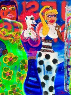 "Saatchi Art Artist Behal Catchpole; Painting, ""POSSE PREP AT THE ACE HOTEL"" #art"