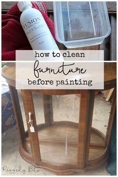 Making sure that the surface that your going to paint on is clean is vitally important when painting furniture. Because if you don't, you may find yourself in a bit of a pickle with paint peeling! Sometimes you can't even see the dirt and grime build up on a piece. Today I'm sharing How To Clean Furniture Before Painting to avoid this | www.raggedy-bits.com | #raggedybits #DIY #furniturepainting #TSP #fusionmineralpaint #clean #prep