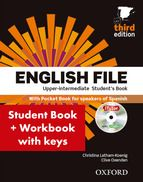 English File Edition Upper-IntermediateStudent's Book + Workbook with Key Pack, CEFR: (English File Third Edition) English File, Oxford English, Filing, Books, Third, Keys, University, Students, Audio