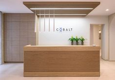 Larger lawyers office in the Baltics- COBALT , 2016 - Lolita Freidmane Larger lawyers office in the Baltics- COBALT , 2016 - Lolita Freidmane Office Reception Design, Modern Reception Desk, Reception Counter Design, Salon Reception Desk, Lobby Reception, Reception Seating, Dental Office Decor, Medical Office Design, Office Counter Design