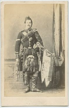 A piper of the 78th Foot (Scotland), 1860