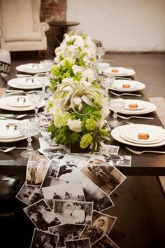 Great idea for a dinner party, engagement party, shower, reception, family reunion, birthday party, etc...