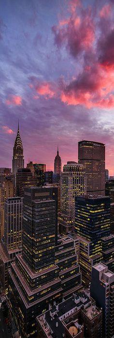 Manhattan, New York, USA de noche