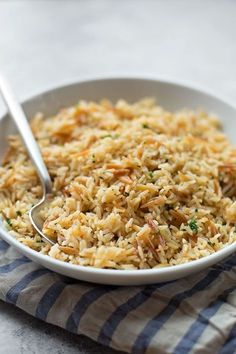 This perfect rice pilaf is easy to make and turns out perfect every time! It's so simple and flavorful, you'll crave it at least once a week!