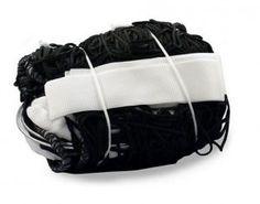 Siatka do siatkówki turniejowa - czarna - Stosowana w szkolnych rozgrywkach meczowych oraz do treningu. $26