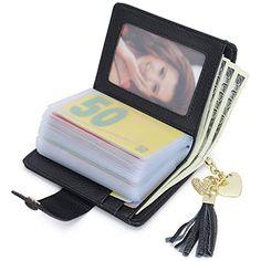 aa6ee28b4ced5 Echt Leder Kredit- und Visitenkartenetui mit 21 Fächer Kartenetui  Scheckkartenetui Kartenmäppchen Kreditkartenmäppchen für Herren und Damen   Bekleidung ...