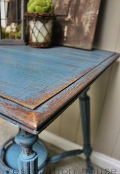 miss mustard seed milk paint table redo, painted furniture