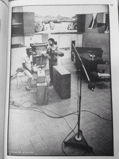Coxsone in Studio 1 live room  (from Reggae Bloodlines, photo: Kim Gottlieb