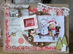 A card made with one of the lovely winter secret stamp kit 2013, also available as digi as of 11-11-2013