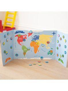 Map of the World Magnet Set   JoJo Maman Bebe