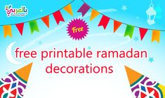 Free Printable Ramadan Decorations .. Ramadan Decoration PDF ⋆ belarabyapps Ramadan Crafts, Ramadan Decorations, Free Printables, Chart, Pdf, Kid, Free Printable