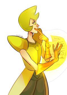 Beach City Bugle: Drawing Things Out Yellow Diamond Su, Diamond Art, Yellow Pearl Steven Universe, Rebecca Sugar Art, Steven Universe Pictures, Diamond Authority, Diamond Comics, Fanart, Universe Art